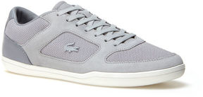Lacoste Men's Court-minimal Bicolor Canvas And Suede Sneakers