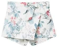 MANGO Printed skirt pants