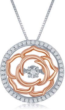 Bellerose ENCHANTED FINE JEWELRY BY DISNEY Enchanted Disney Fine Jewelry 1/5 C.T. T.W. Sterling Silver Necklace