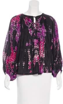 Anna Kosturova Silk Printed Blouse w/ Tags