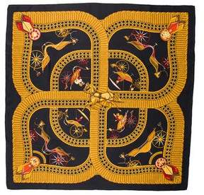 Hermes Voitures Paniers Silk Scarf