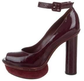 Sonia Rykiel Peep-Toe Ankle Strap Pumps