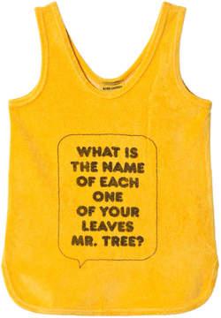 Bobo Choses Banana Yellow What Slogan Terry Dress