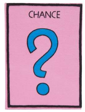Olympia Le-Tan Monopoly Chance Embroidered Book Clutch - Womens - Pink