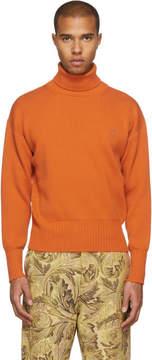 Loewe Orange Wool Turtleneck