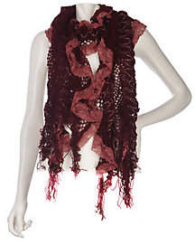 Collection XIIX Ruffle Lace Muffler with Fringe
