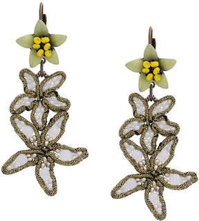 CITYSHOP flower embellished earrings