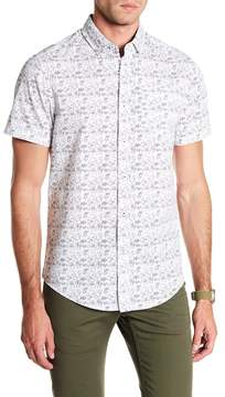 Report Collection Tropical Short Sleeve Slim Fit Shirt