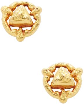Amrapali Women's 18K Yellow Gold Circle Stud Earrings