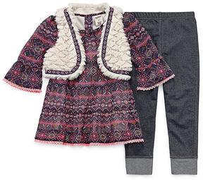 Arizona 3-pc. Legging Set-Toddler Girls