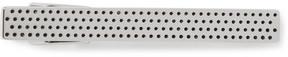 HUGO BOSS Tevin Silver-Tone Enamel Tie Clip