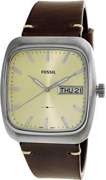 Fossil Men's Rutherford FS5329 Brown Leather Quartz Dress Watch
