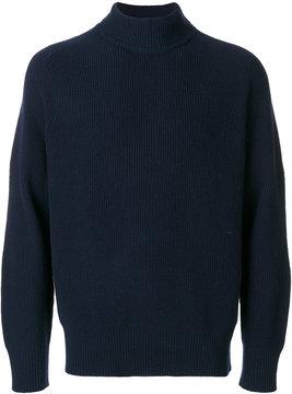 Sacai fine knit roll neck sweater