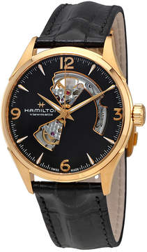 Hamilton Jazzmaster Open Heart Black Dial Automatic Men's Leather Watch