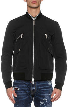 DSQUARED2 Four-Pocket Bomber Jacket, Black