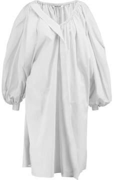 Chalayan Oversized Striped Cotton Midi Shirt Dress