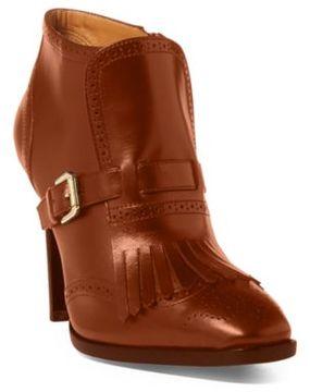 Ralph Lauren Lansy Luxe Calfskin Boot Black 7