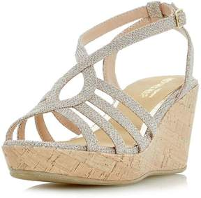 Head Over Heels *Head Over Heels By Dune Gold 'Kimmi' Wedge Sandals