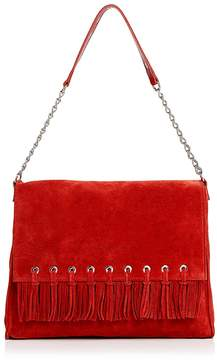 Longchamp Paris Rocks Folk Suede Shoulder Bag