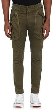 Faith Connexion Men's Stretch-Cotton Skinny Crop Cargo Pants