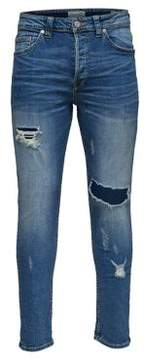 ONLY & SONS Slim-Fit Ripped Skinny Jeans