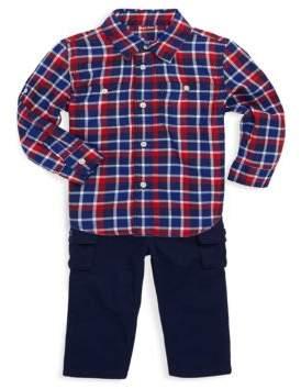 Ralph Lauren Boy's Two-Piece Cotton Button-Down Shirt and Cargo Pants Set