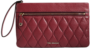 Vera Bradley Claret Quilted Mia Leather Wristlet - CLARET - STYLE