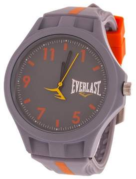 Everlast Soft Touch Accented Rubber Strap Watch - Gray