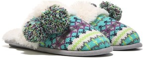 Dearfoams Women's Fairisle Scuff Memory Foam Slipper