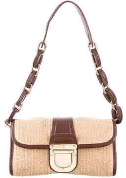 MICHAEL Michael Kors Leather-Trimmed Straw Bag