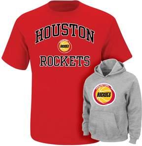 Majestic Boys 4-7 Houston Rockets Hoodie & Tee Set
