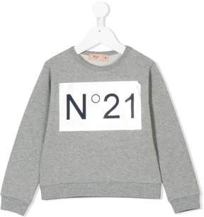 No.21 Kids logo print sweatshirt