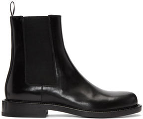 Jil Sander Black Leather Chelsea Boots