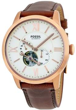 Fossil Townsman Beige Dial Automatic Men's Watch