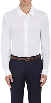 Luciano Barbera Men's Cotton Piqué Button-Front Shirt