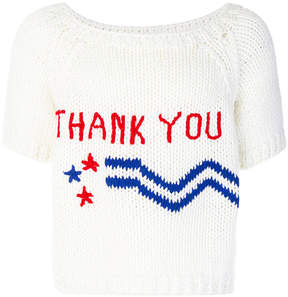 Raf Simons Thank You knitted T-shirt