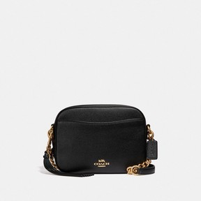 COACH COACH CAMERA BAG - BLACK/LIGHT GOLD