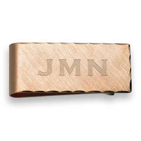 Asstd National Brand Scallop Edge Clip Plated 14K Pink Gold