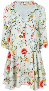 Alice + Olivia Alice+Olivia floral-print mini shirt dress