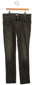 Armani Junior Girls' Mid-Rise Straight-Leg Jeans
