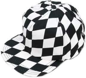 Off-White chequered flat peak cap