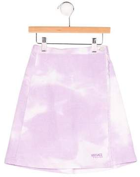 Versace Girls' Tie-Dye Wrap Skirt