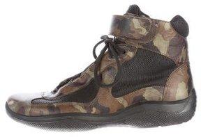 Prada Camouflage High-Top Sneakers
