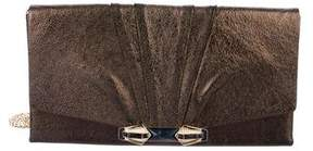 Judith Leiber Embellished Metallic Leather Chain-Link Evening Bag