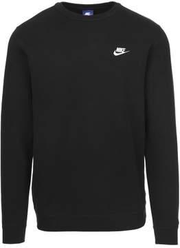 Nike Men's Club Fleece Crewneck Sweatshirt 804340-010 Black/White