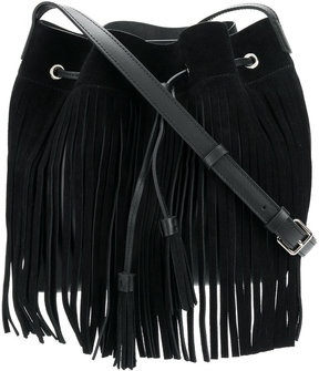 Lancaster fringed bucket bag