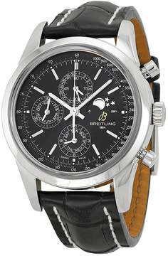 Breitling Transocean Chronograph Black Dial Black Men's Watch A1931012-BB68BKCT
