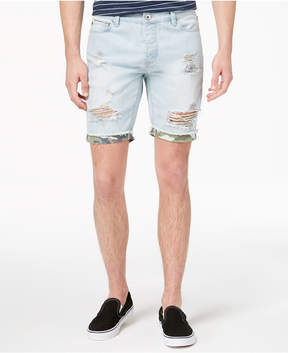 American Rag Men's Light Wash Camo Denim Shorts, Created for Macy's