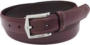 Stacy Adams Casual Leather Belt with Pinhole Design
