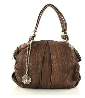 Christian Louboutin Pre-owned: Pleated Shoulder Bag Python Medium.